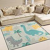 Teppich von Bennigiry mit Dinosaurier-Motiv, moderner Läufer, superweich, für Wohnzimmer, Schlafzimmer, Kinder-Spielzimmer, dekorativer Teppich, 160 x 122 cm, multi, 80 x 58 Inch