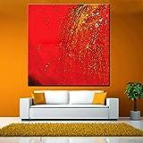 XIAOXINYUAN 100% Handgemalt Abstrakt Öl Malerei Moderne Professionelle Kunst Wand Rot Bild Für Wohnzimmer Home Decor 80 × 80 cm