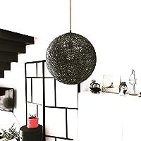 Lámpara de techo colgante esfera decorativa de hilo de algodón, artesanal, hecha a mano 30 cms.