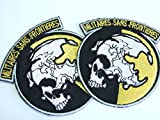 Militaires Sans Frontieres Metal Gear Solid Snake Cosplay Patch Applicazione con immagine Iron On Patches Applicazione, New Set of 2by onekool