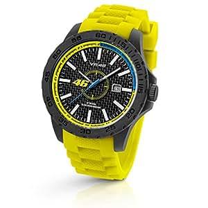 Officielle Valentino Rossi VR46 TW Steel 45mm montre bracelet jaune