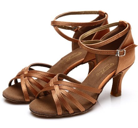 DGSA Nach Latin Dance Shoe 7 cm Im high-heel 301#Farbe Schwarz Phnom Penh ---7 cm