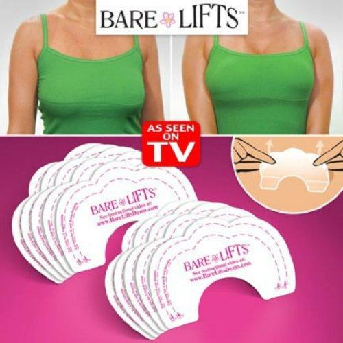 Bare Lifts Lot de 20 adhésifs pour soutien-gorge pour un effet push-up