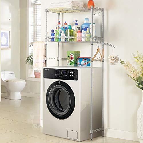 Rttzw ripiano per lavatrice mensola del bagno, struttura della lavatrice in acciaio al carbonio, lavabile