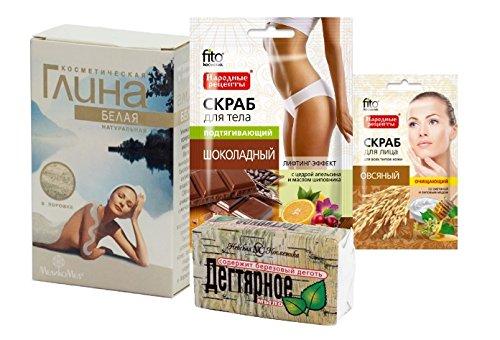 cura-del-corpo-kit-bianco-cosmetica-argilla-medikomed-100g-tar-soap-bar-nevacosmetic-140g-avena-viso