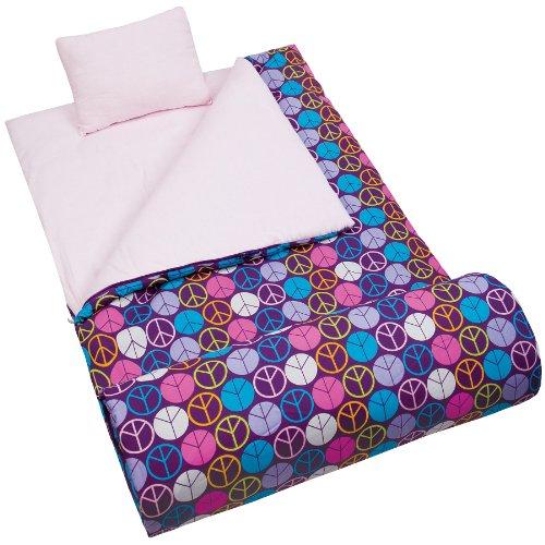 peace-signs-purple-sleeping-bag