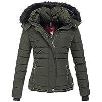 Navahoo warme dames winterjas parka mantel gewatteerde korte jas gevoerd B301