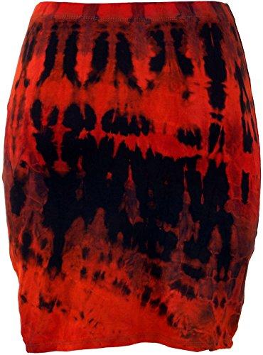 Guru-Shop - Jupe - Femme vert Vert/multicolore 38 rouge/noir