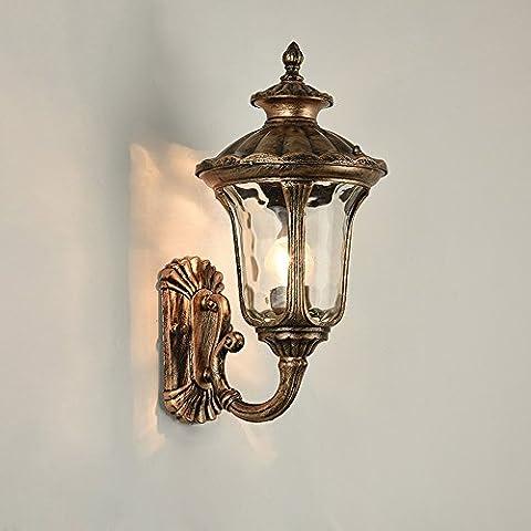 Lanterne imperméable à l'eau murale à l'extérieur à l'énerge d'énergie - Fini Bronze huilé Décoration claire Décoration Décor Accent Lighting - Le meilleur pour les lampes d'éclairage Patio / Pool / Yard / Deck ( Size : Diameter: 36 cm )