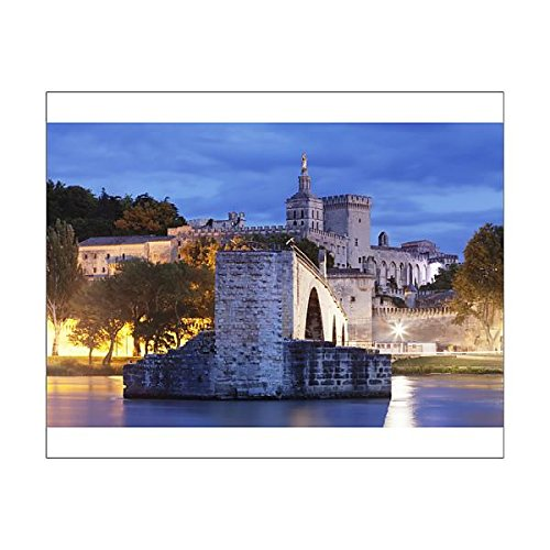 20x16 Print of Bridge St. Benezet over Rhone River with Notre Dame des Doms Cathedral and (11703020)