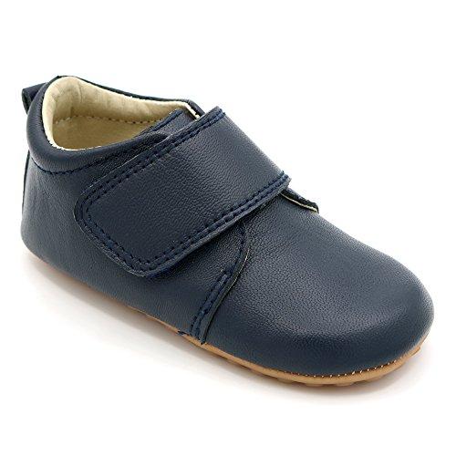 Shimmy Shoes Klassische marinefarbene Schuhe für besondere Anlässe für Babys und Kleinkinder Kinderschuhe aus hochwertigem marinefarbenem Leder (EU Größe 22)