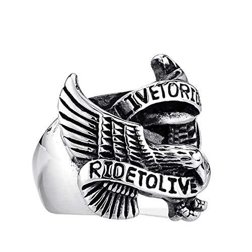en Ring Adler Lokomotive Silber Männer Ring Silber Partnerringe Größe 65 (20.7) ()