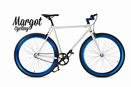 MARGOT Aqua 58 - Bici Scatto Fisso, Fixed Bike, Bici single speed, Bici fixie