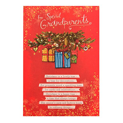 Weihnachtskarte Hallmark, For special grandparents – Medium.Karte Weihnachten Hallmark für besondere Großeltern Zeit–Medium (Ornament Hallmark Zeit)
