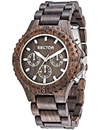 Sector Herren - Armbanduhr NO Limits NAT Analog Quarz Holz R3253478005