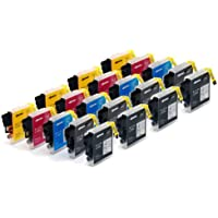 MULTIPACK ! 20 (4 FULL SETS + 4 EXTRA BLACK) COMPATIBLE INK CARTRIDGES TO BROTHER LC985 LC39 for Brother MFC-J220 / MFC-J265W / MFC-J410 / DCP-J125 / DCP-J315W / DCP-J415W / DCP-J515W / 8x BLACK + 4x CYAN + 4x MAGENTA + 4x YELLOW