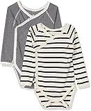 Petit Bateau Body NOUE ML S/V, Mixte bébé, Multicolore (Special Lot 00), Taille Fabricant: NAI Naissance (Lot de 2)