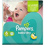 Pampers Baby Taille 6 Sec (Extra Large) Essential Pack 33 Couches -