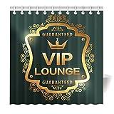 YISUMEI Hem Gewichte Vorhang Duschvorhang Mode Duschvorhänge 120x180 cm VIP Lounge Krone