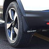 BeHave dnb5970w Auto-Schutzblech, Spritzschutz, Auto-Zubehör, Auto-Schmutzfänger, komplettes Set, 4 Stück, reflektierendes Licht, Spritzschutz, Schwarz mit weißem Logo.