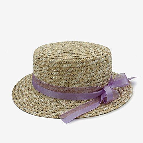 ZHAS Beste Wünsche Hause Hut-2017 Mode Klassischen Stil Sonnenhut für Frauen Bowknot Flachen Hut Elegante Dame Frauen Sommer Bogen Strohhüte