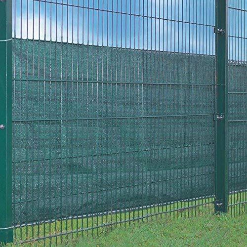 Zaunsichtschutz 500 x 100 cm Grün mit 24m Kordel