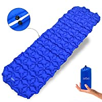 Acelane Inflatable Sleeping Pad Star-shaped Ultralight Compact Air Pad Lightweight Sleeping Mat for Portable Outdoor Camping Hiking Travelling Backpacking Air Mattress (Star-shaped Pad)