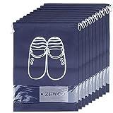 ZeWoo 10 Pack Scarpe Borse per Viaggiare, Borsa Scarpe da Viaggio Multiuso Coulisse Antipolvere Sacchetti Portascarpe Organza per Sacca da Viaggio Impermeabile Non Tessuto con Finestrella Trasparente
