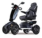 TGA Vita Sport Deluxe 4 Wheel Sport Class 3 Mobility Scooter - Metallic Black