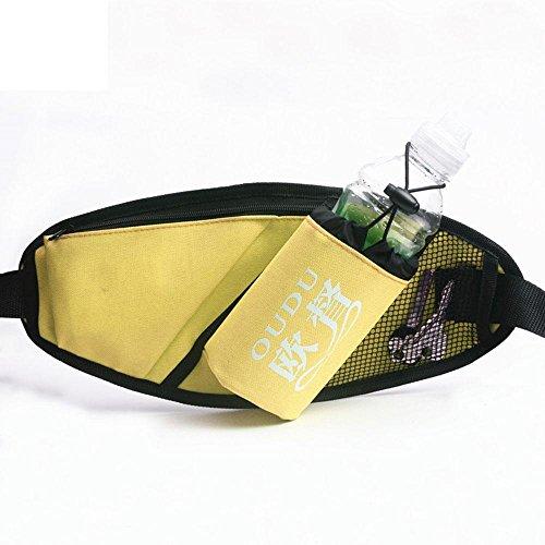 BUSL Wandern Hüfttaschen Frau männliche Sporttasche Multifunktions-Laufband Mini versteckte wasserdichte Handytaschen Kessel Outdoor-Fitness Yellow