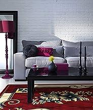 Al Salem Super Sabah Collection Carpet Classic Tradition Area Rug 140 CM X 220 CM Red