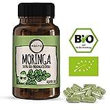 AQAYO Moringa Kapseln | 100% Bio-Moringa Oleifera | 90 vegane Moringa Kapseln für 30-45 Tage