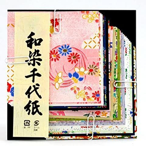Wazome Chiyogami Mix, Carta origami 10 cm no. (Washi Chiyogami Carta)