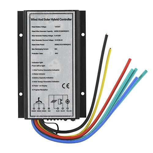 Controlador híbrido Solar eólico - 12/24V