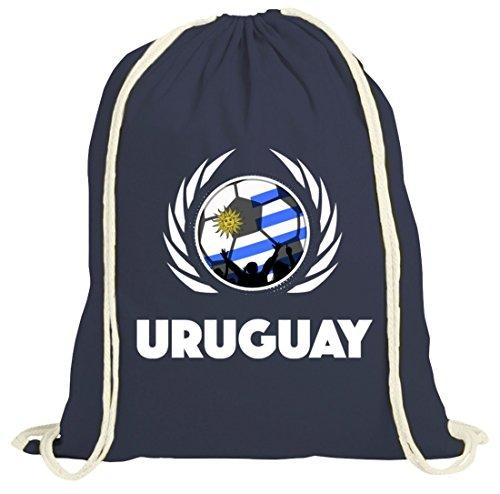 Calcio Crest Wm Fanfest Gruppi Fan Natura Palestra Borsa Da Palestra Borsa Da Calcio Uruguay Natura Blu Scuro