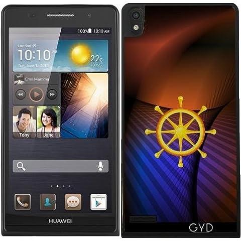 Custodia in silicone per Huawei Ascend P6 - Ruota Del Dharma by hera56