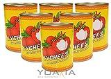Produkt-Bild: 6er Pack - Litschis leicht gezuckert [6x 567g / 227g ATG] Lychees in Syrup