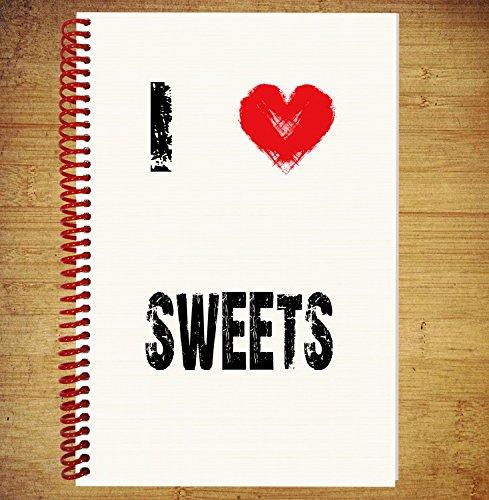 A5Notebook/Zeichnen Pad Diary Gedanken Ideen Pläne–I love Sweets