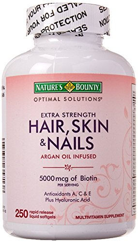 Biotin 5000 Mcg Kapseln (Haar Haut Nails Arganöl Erfüllte, 5000 mcg Biotin, 250 Rapid Release Kapseln Flüssigkeit)