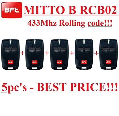 5x BFT MITTO B RCB02R12-canali mando remoto