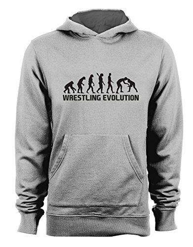 Felpa con cappuccio Wrestling Evolution - evolution - wrestling - sport - humor - in cotone Grigio