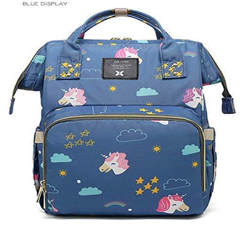 e Tasche Mutter und Kind Paket Multifunktions große Kapazität Schulter aus Mutter Rucksack Make-up, blau ()