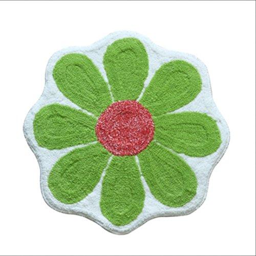 EQEQ Blume matten Pulver grün blau Türmatten absorbierend Rutschfest mit der Hand waschen Badezimmer Schlafzimmer matte Teppich, 3 (Pulver-blau-teppich)