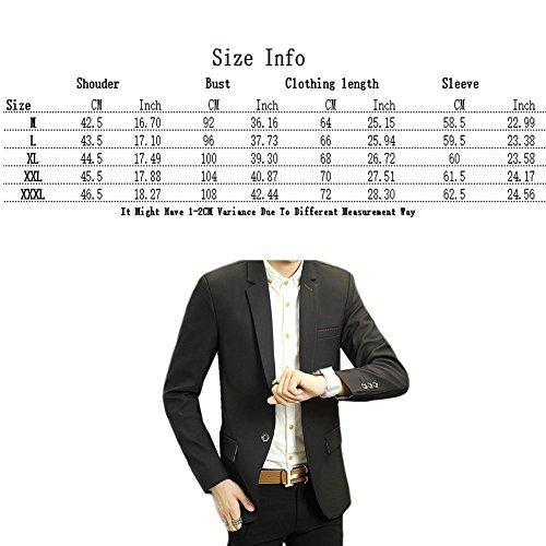 Zhuhaitf 1608# Mens Slim Fit Cotton Jackets Suit Outerwear Fashion Casual Buttons Blazer Coats Kaki