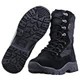 FREE SOLDIER Herren Stiefeletten 20,3cm Zoll Spitze bis Tactical Arbeit Schuhe All Terrain Ultralight atmungsaktiv Desert Boots (Schwarz, 47 EU)