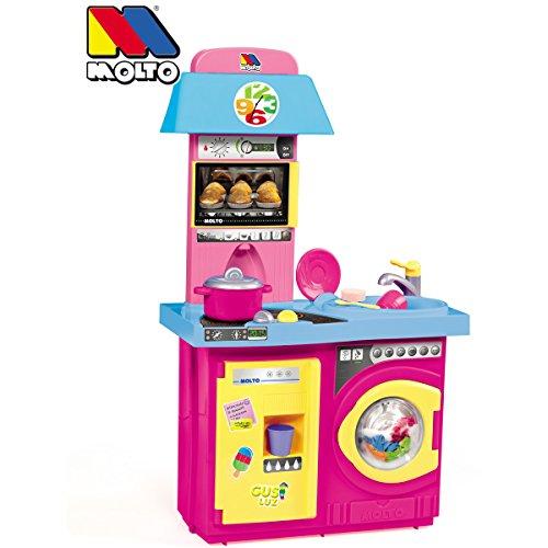 Unbekannt Spielküche mit Herd, Backofen, Waschmaschine und Spülmaschine - Kitchen Studio Kinder Küche Spielküche Spielzeug Küchen Zubehör Geräte Set -