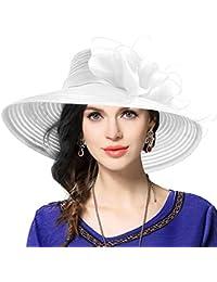 Amazon.it  Fiori Organza Bianco - 20 - 50 EUR   Cappelli e ... af33743d209a