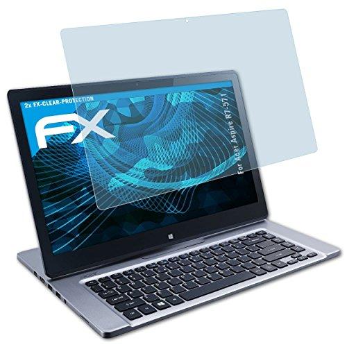 atFolix Schutzfolie kompatibel mit Acer Aspire R7-571 Folie, ultraklare FX Bildschirmschutzfolie (2X)