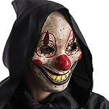 Carnival Toys 783- Máscara de payaso de terror, con mandíbula móvil, beige, talla única