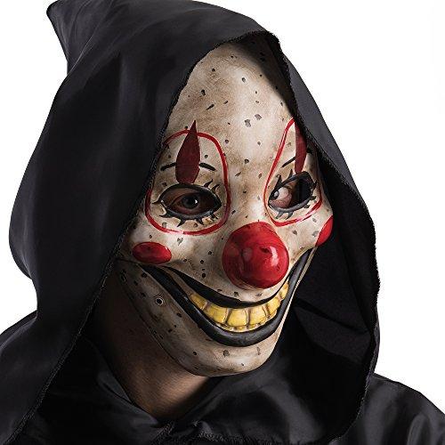 ske Horror Clown, Beige, one size (Bewegt Den Mund Maske)